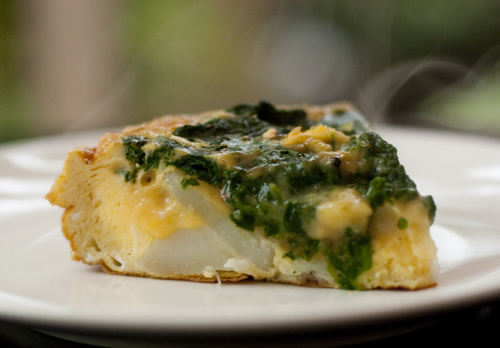 Potato & Spinach Fritata Recipe