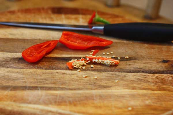 Saving Chilli Seeds Remove Seeds