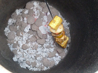 Kebabs Cooking in a Tandoor